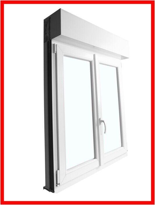 2 Flügelig Fenster mit Rolladen - Gurt