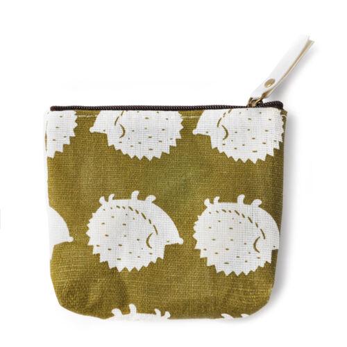 Women/'s Coin Key Holder Case Small Retro Canvas Purse Mini Bag Zip Wallet