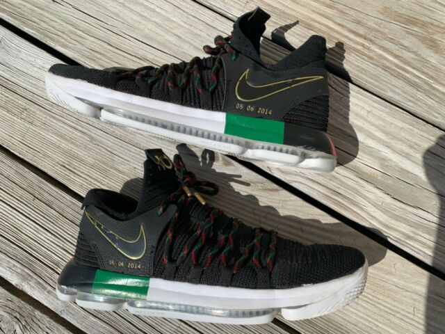 uk availability 6ef4f 116de Nike Zoom KD 10 LMTD BHM Black History Month 897817-003 Men's Size 13