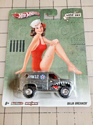 Hot Wheels Pop Culture Nose Art Baja Breaker Van Real Riders