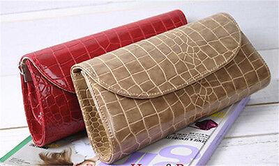 Fashion Faux Patent Leather Evening Party Bag Clutch Purse Women Handbag HI