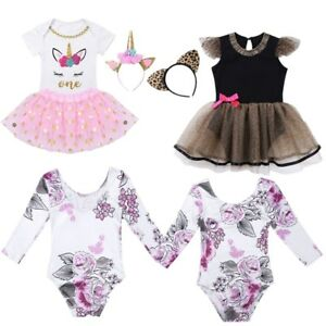 98039753e66b Newborn Baby Girls Clothes Floral Romper Tutu Dress Jumpsuit ...