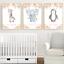 Safari-jungle-animaux-Nursery-Imprime-Set-de-3-Baby-Girl-Room-photos-Wall-Art miniature 1