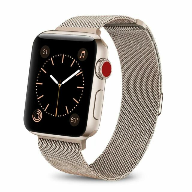 new arrival af8e9 86a4b Blackweb BWB16WA004 Apple Watch Replacement Band Steel Pink 42mm