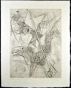 Grosse-expressionistische-Aquatinta-Alfred-FINSTERER-1908-1996-D-handsigniert
