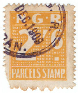 I-B-Natal-Government-Railways-Parcel-Stamp-2-6d