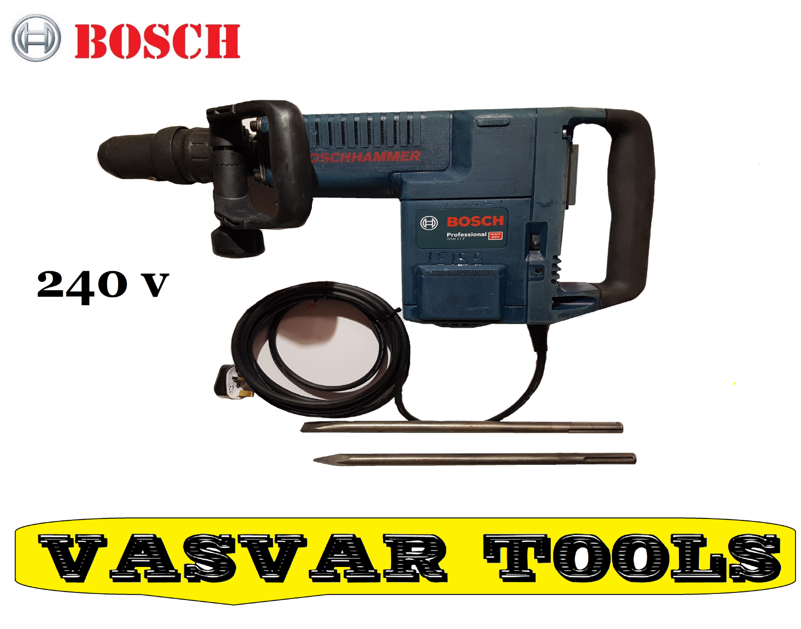 BOSCH  DEMOLITION HAMMER  GSH 11 E  DEMOLATION HAMMER  240V
