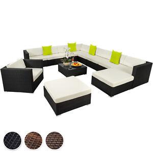 Xxl Poly Rattan Alu Sitzgruppe Lounge Rattanmöbel Gartenmöbel Sofa