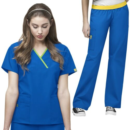 WonderWink Scrubs Set ORIGINS Women/'s Y-Neck Top Waistband Pant 6026//5016 Tall