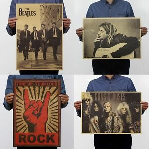 22-Types-Retro-Pop-Music-Rock-Band-Stars-Kraft-Paper-Poster-Bar-Pub-Wall-Decor