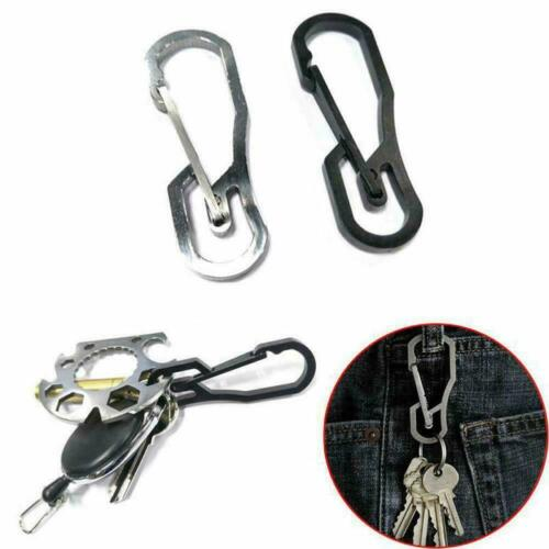 Stainless Steel Key Chain Clip Hook Buckle Keychain Climbing Ring Carabiner L5Y1