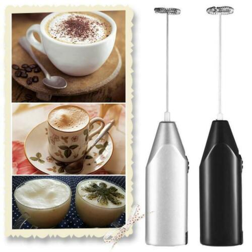 Electric Egg Beater Milk Coffee Whisk Mixer Stainless Steel Mini Handle Stirrer
