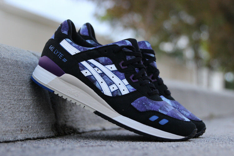 NEW IN BOX! Uomo Asics GEL-LYTE III Blue White CASUAL Scarpe H5Q4N-5301 SIZE 6-10