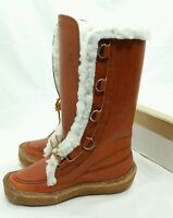 Womens Vintage Cabelas Shearling Sherpa Mukluks Boots Brown Leather 7 Canada