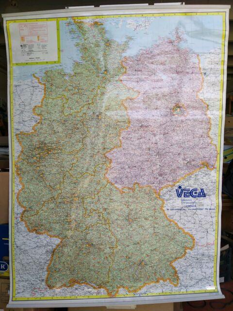 Cartina Germania Ovest.Mappa Germania Est E Ovest Cm 96 X 130 Vega Spedizioni Vicenza Muro Di Berlino Ebay
