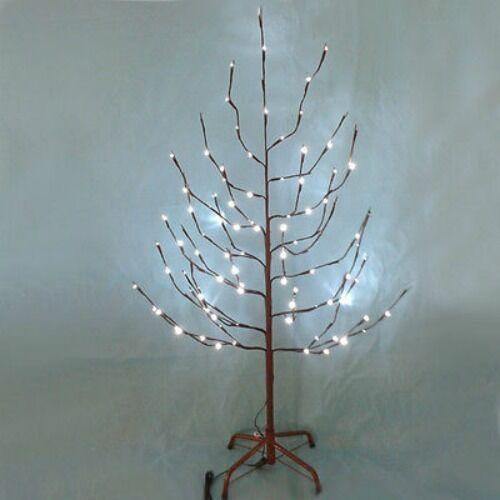 Kurt Adler 1,2 M Braun Zweig 48   Weiß Weiß Weiß Funkeln Led Baum Weihnachts-Dekor 18180c