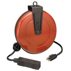 Craftsman Extension Cord w/ Reel 30ft Retractable 3 Outlet Electrical