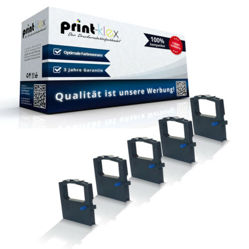 5x Kompatible Schriftbänder für OKI 09002316//ML-590 Farbband Drucker Pro Serie
