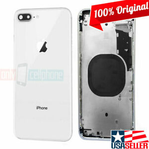 100-Original-OEM-Apple-iPhone-8-Plus-Silver-Back-Cover-Mid-Frame-Housing-Only