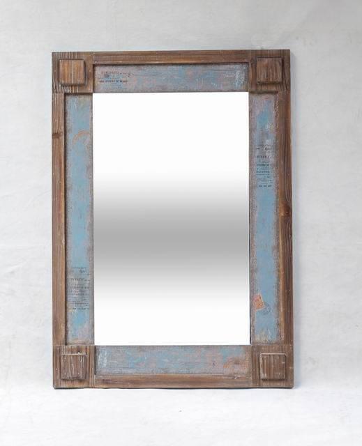 Wandspiegel Massivholzrahmen Vintage Spiegel Farbwahl 76 x 107 cm