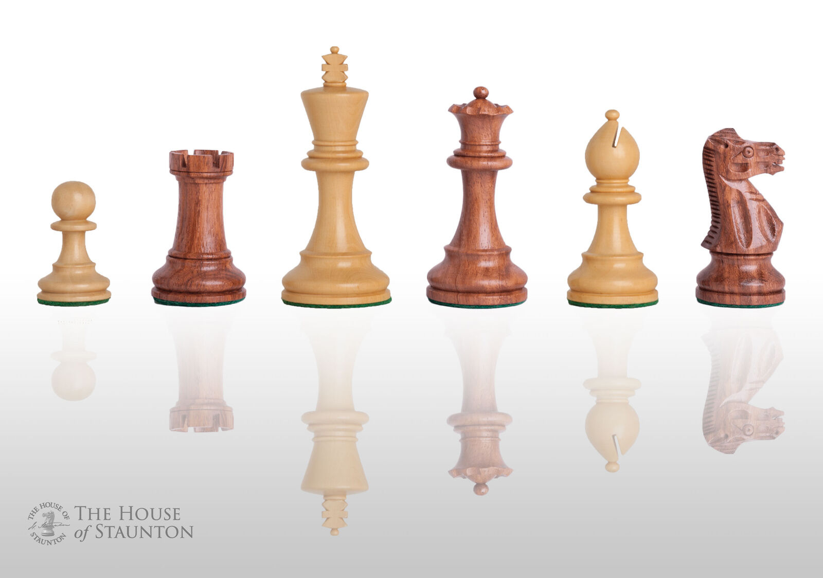 USCF Sales The Grandmaster Chess Set - Pieces Only - 4.0  King - oroen Rosewood
