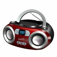 Bluetooth Wireless Portable Audio System Cd Usb Mp3 Player Fm Radio Boombox Aux