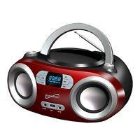 Bluetooth Wireless Portable Audio System Cd Usb Mp3 Player Fm Radio Boombox Aux