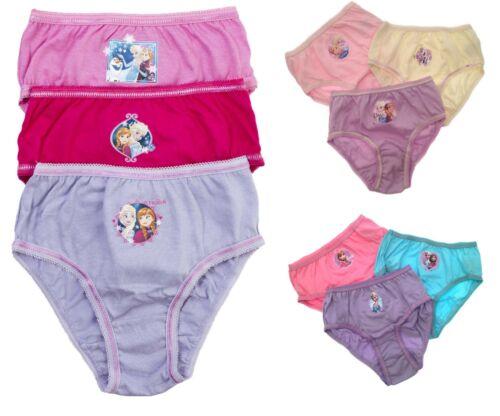 Disney Frozen Elsa Anna Briefs Kids Girls 3 Multipack Underwear Size 2 - 8 Years