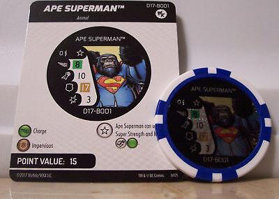 Ape Superman Ape The Flash #D17-B001 /& B002 LE WizKids Promo Heroclix
