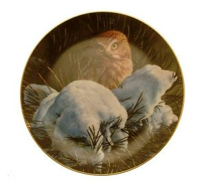 Danbury-Mint-The-Owls-of-North-America-Snowy-Dawn-owl-plate-GB91