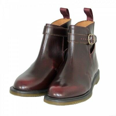Dr Martens Flora Cherry Red Arcadia Hi Shine Leather Chelsea Boot Ladies Shoe