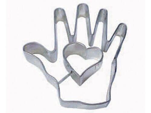 Love Valentine Heart in Hand Cookie Cutter 4/'/'  NEW