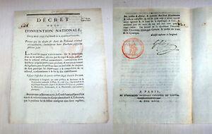Revolution-Francaise-1793-Decret-scelle-et-signe-Gohier