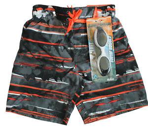 ZeroXposur Boys Red Blue /& Orange Zinnia Swim Trunks Size Medium 10//12