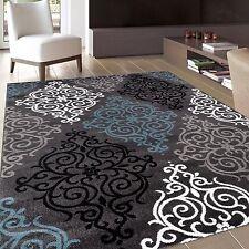 Modern Transitional Soft Damask Grey Area Rug 7'10 x 10'2 111 Gray 8'X10'