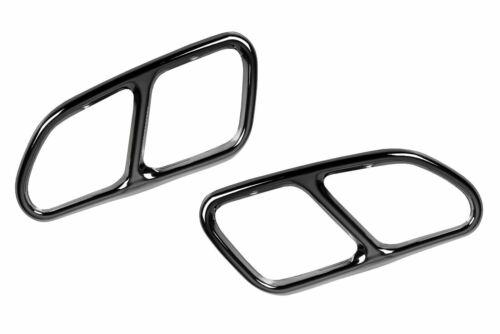 2 Chrome Auspuffblenden aus Edelstahl V2A für Volvo XC 60 Y20 bis 2017 AB/_3