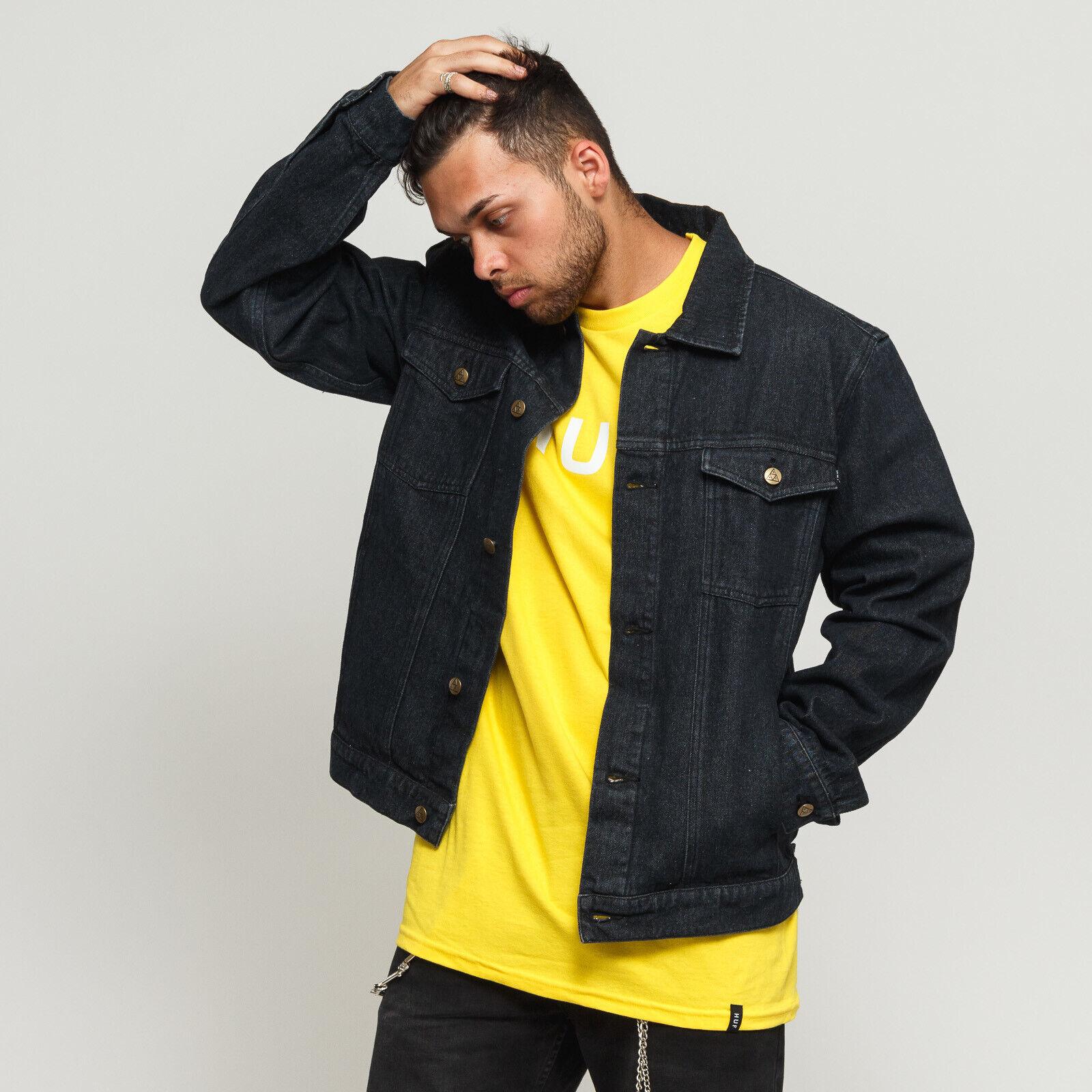 HUF Issue Denim Jacket schwarz S, Schwarz