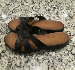 Skechers LUXE FOAM Women's Black Slip On Sandals Slides Sz 10 SUPER COMFY & CUTE
