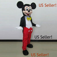 【top Quality】 Mickey Mouse Mascot Costume Adult Size Halloween Dress-us Seller