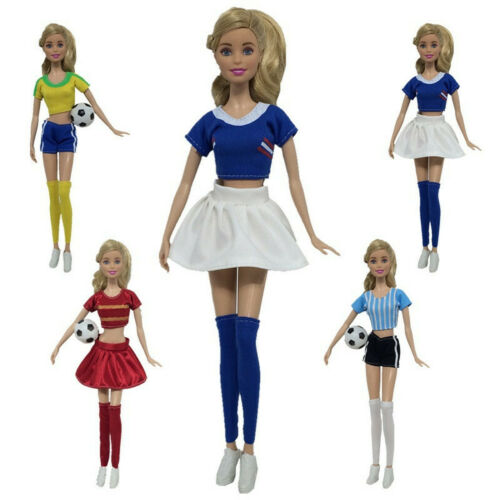 4Pcs Doll Accessories Football Cheerleading Dress Up Clothes For 30cm Dolls