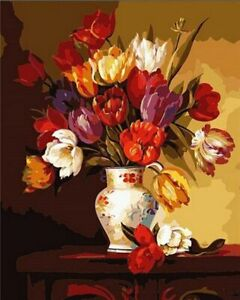 Flower In Vase 40 x 50 cm Painting By Numbers Kit On Canvas N30
