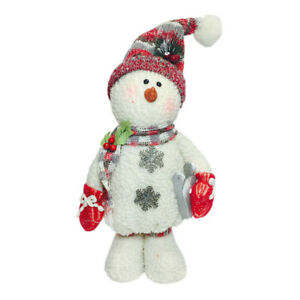 image is loading plush standing christmas snowman ornament decoration indoor snowmen