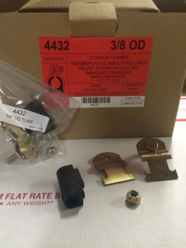 "006T010 3//8/"" OD Cushion Pipe Clamps 4 Unistrut Copper, Steel, PVC 25//PK 4432"