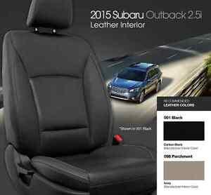 Subaru outback premium 2015 2016 17 leather interior kit black or light tan ebay for Subaru outback leather interior