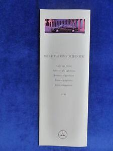 Mercedes-Benz-E-Klasse-W124-Lacke-amp-Polster-Prospekt-Brochure-03-1995