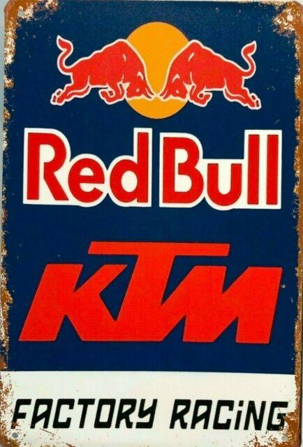 Rustic Red Bull KTM new tin metal sign MAN CAVE