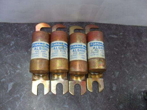 Nice Lot Ferraz Shawmut ALS 400 400 Amp Fuses 125 Volts