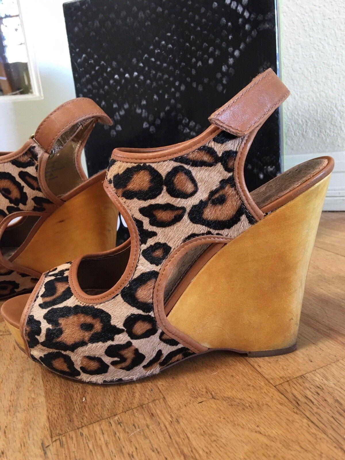 Sam wedge Eldelman S-Kendall Leopard nude wedge Sam Platform Schuhe 9M 68496d