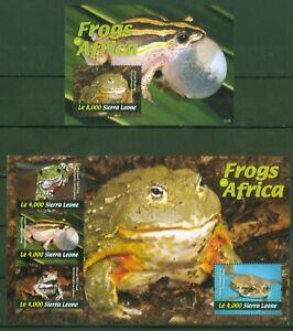 Charitable Sierra Leone 2011-grenouilles $ Anoures Sortis Frogs 5471-74 + Bloc 659-afficher Le Titre D'origine