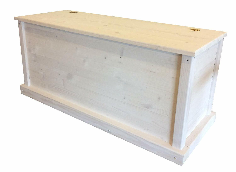 Cassapanca in legno impregnata portaoggetti 100x40x45cm ANCHE SU MISURA